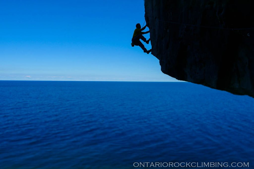 a brief history of rock climbing on the escarpment ontario rock